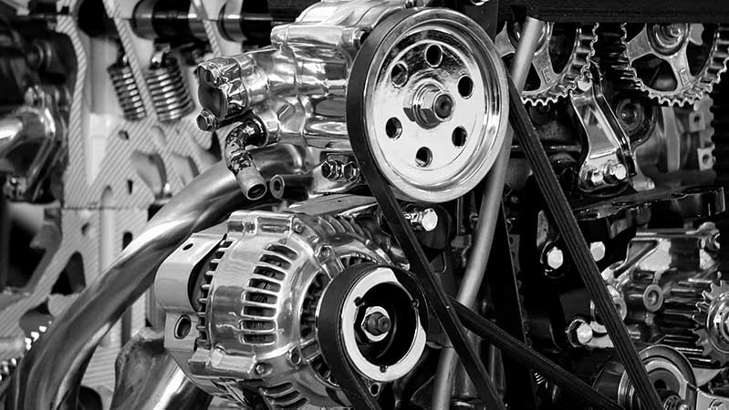 Close up photo of an engine for an automible