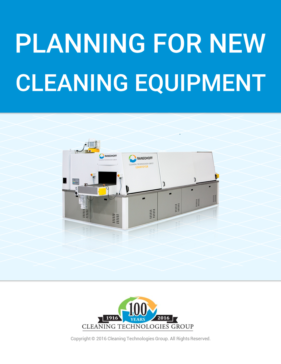 Planning for New Cleaning Equipment