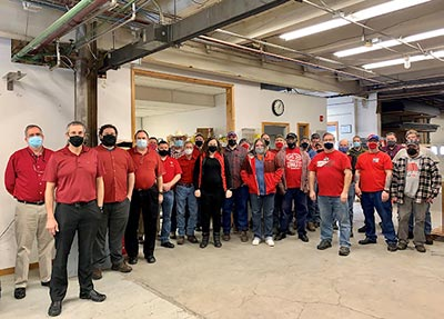 CTG Employees showing support for the fight against heart disease by wearing red