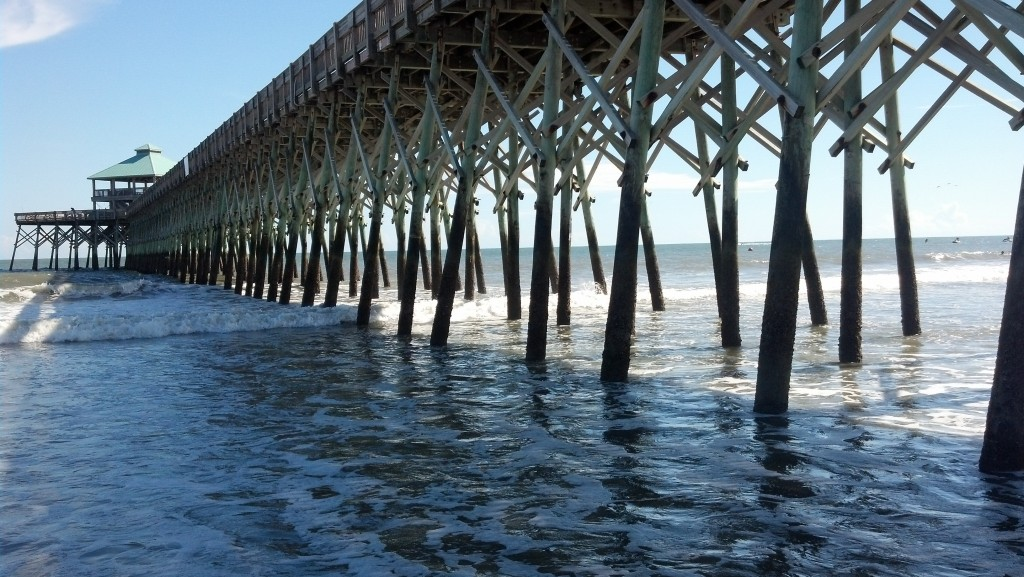 Pier with triangles