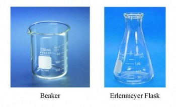 Illustration of Beaker and Flask