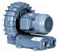Illustration showing a regenerative blower